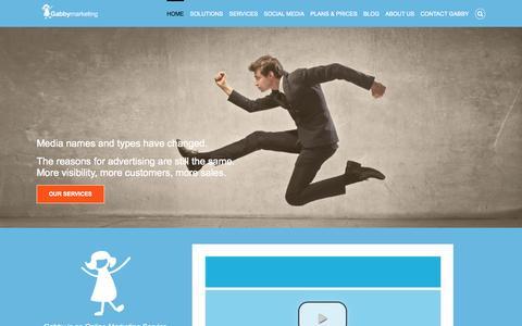 Screenshot of Home Page gabbym.com -   - captured Oct. 1, 2015