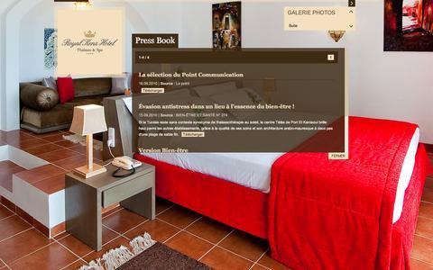 Screenshot of Press Page hotelroyalkenz.com - Press Book - captured June 3, 2016