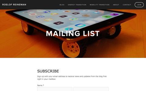Screenshot of Signup Page roelofreineman.com - Join — Roelof Reineman - captured Oct. 9, 2014