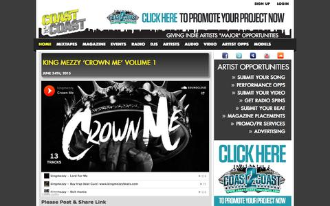 Screenshot of Blog coast2coastmixtapes.com - Coast 2 Coast Mixtapes Blog | The Most Downloaded Mixtapes in the World - captured July 16, 2015