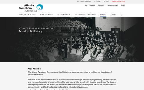 Mission & Historical Timeline | Atlanta Symphony Orchestra
