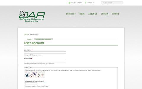 Screenshot of Login Page oarcorp.com - User account | OARcorp - captured Oct. 8, 2014