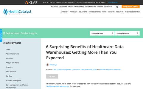 6 Surprising Benefits of Healthcare Data Warehouses: Getting More Than You Expected