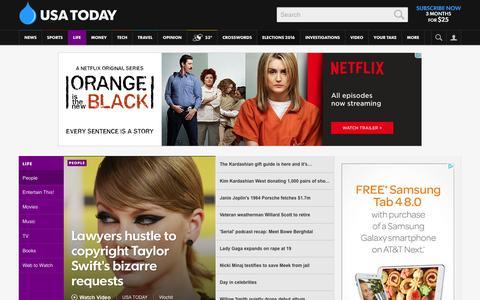 Screenshot of Team Page usatoday.com - Celebrity Photos, Videos and Interviews - USATODAY.com - captured Dec. 11, 2015
