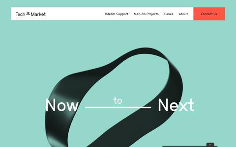 Screenshot of Home Page tech-to-market.com - Tech to Market | MarCom Agency for Tech B2B - High Tech Campus - captured Nov. 4, 2017