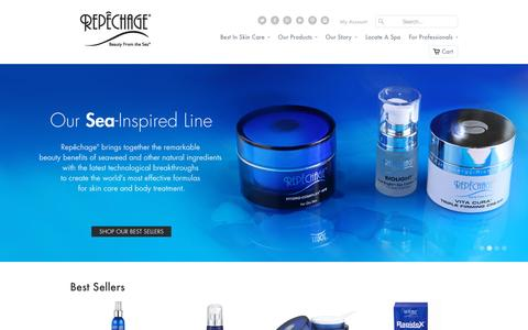 Screenshot of Home Page repechage.com - Professional Skin Care Products | Repêchage® Official Site - captured Sept. 19, 2015