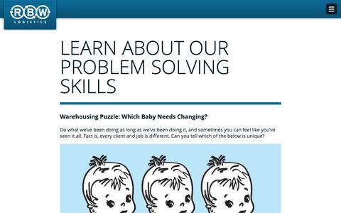 Screenshot of Case Studies Page rbwlogistics.com - Test Your Problem Solving Skills - RBW Logistics - captured Oct. 19, 2018