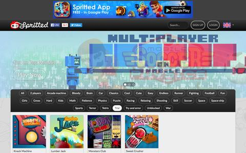 Screenshot of Trial Page spritted.com - Trial games - Spritted.com - captured April 24, 2016