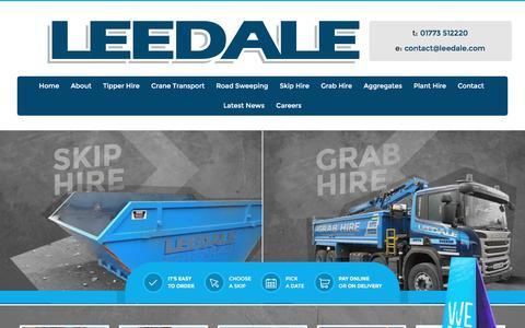 Screenshot of Home Page leedale.com captured Nov. 5, 2016