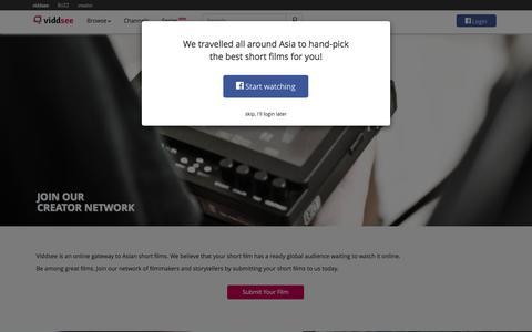 Screenshot of Signup Page viddsee.com - Join Our Film Network   Viddsee - captured Oct. 28, 2014
