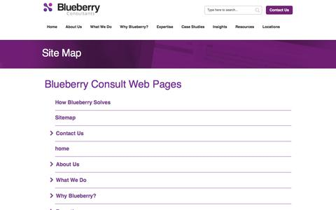 Screenshot of Site Map Page bbconsult.co.uk - Blueberry Consultants > Map - captured Oct. 10, 2017
