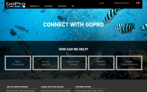 Screenshot of Contact Page gopro.com - GoPro Official Website - Capture + share your world - captured Oct. 20, 2015
