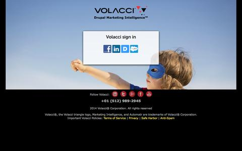 Screenshot of Signup Page volacci.com - Volacci sign in | Volacci Digital Marketing - captured Sept. 23, 2014