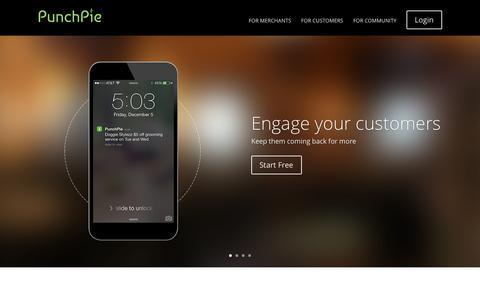 Screenshot of Home Page punchpie.com - Meet PunchPie | PunchPie - captured Jan. 27, 2015