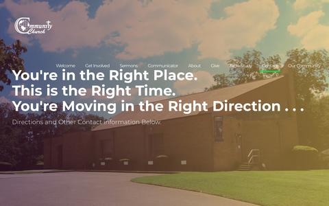 Screenshot of Contact Page ccogatl.org - Contact ⋆ Community Church Atlanta - captured Nov. 10, 2018