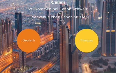 Screenshot of Home Page canon.ch - Home - Canon Schweiz | Canon Suisse - captured Jan. 21, 2016