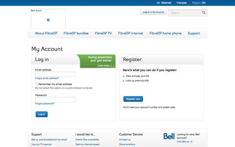 Bell Aliant For Your Home - My Account