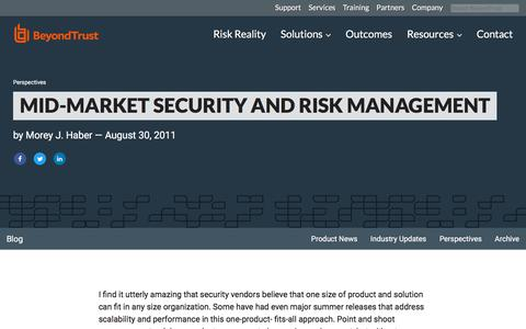 Screenshot of Team Page beyondtrust.com - Mid-Market Security and Risk Management | BeyondTrust - captured Jan. 3, 2020