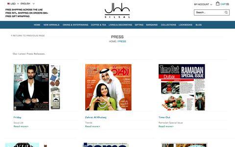 Screenshot of Press Page silsal.com - Press - captured Nov. 19, 2016