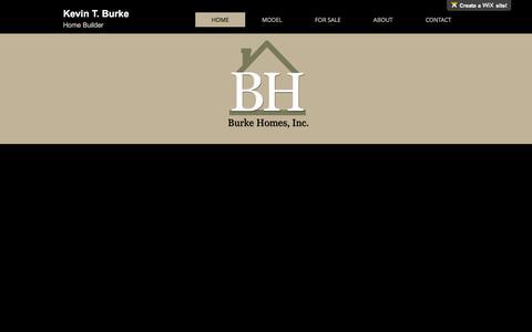 Screenshot of Home Page burkehomeskc.com - burke-homes-inc - captured Feb. 12, 2016