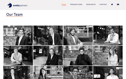 Screenshot of Team Page avoltapartners.com - Team - Avolta Partners - captured July 31, 2018