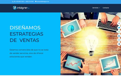 Screenshot of Home Page integrar.mx - Integrar | Marketing Digital & Diseño Web - captured Sept. 30, 2018