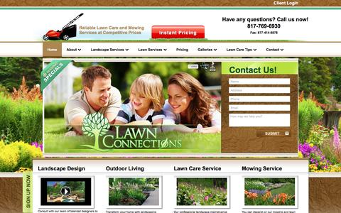 Screenshot of Home Page lawnconnections.com - Professional landscaping and lawn care | Lawn Connections - captured Oct. 31, 2016