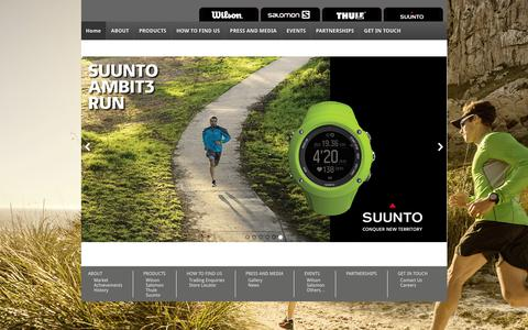Screenshot of Home Page niktrading.com - N.I.K General Trading L.L.C - Distributor of Wilson, Salomon, Thule and Suunto in the UAE and other GCC countriesN.I.K General Trading L.L.C - captured Feb. 14, 2016