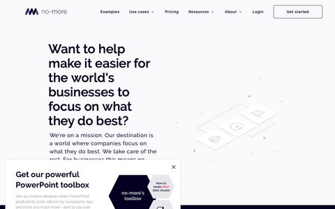 Screenshot of Jobs Page nomorehours.com - Looking for an internship in Copenhagen or Setúbal? - captured Dec. 6, 2018