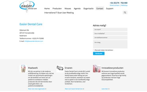 Screenshot of Contact Page easierdentalcare.com - Contact | Easier Dental Care - captured May 14, 2017