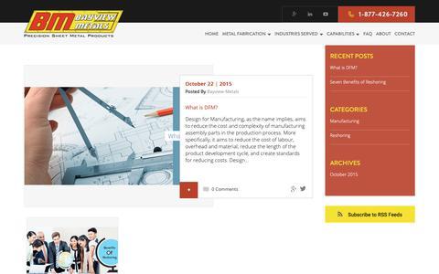 Screenshot of Blog bayviewmetals.com - Blog - captured Nov. 6, 2018