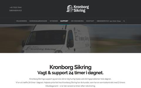 Screenshot of Support Page kronborg-sikring.dk - Support | Kronborg Sikring - captured Sept. 20, 2018