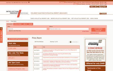 Screenshot of Press Page intellectualpropertycrossing.com - IntellectualPropertyCrossing.com News, Press Room, Press Releases | IntellectualPropertyCrossing.com - captured Sept. 19, 2018