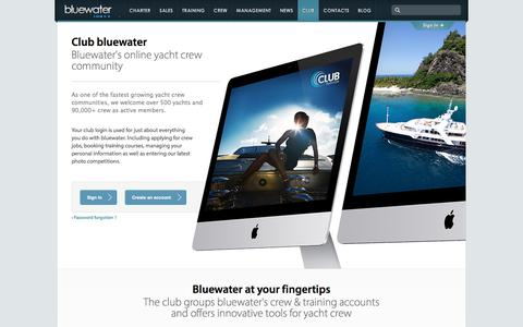 Screenshot of Login Page bluewateryachting.com - Club bluewater - Bluewater at your fingertips - captured June 2, 2017