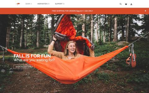 Screenshot of Home Page kammok.com - Outdoor Gear for the City-To-Trail Adventurer                       – Kammok - captured Nov. 24, 2016
