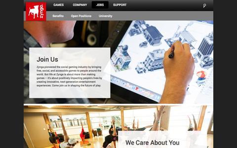 Screenshot of Jobs Page zynga.com - Careers   Zynga - captured Sept. 17, 2014