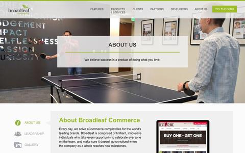 Screenshot of About Page broadleafcommerce.com - About Broadleaf - Broadleaf Commerce - captured July 30, 2016