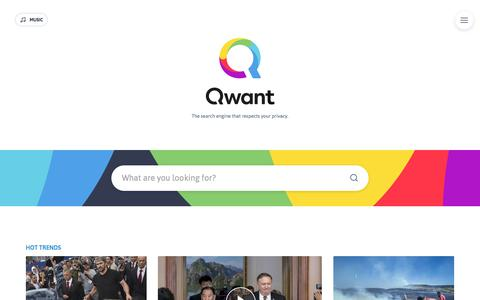 Qwant News - The search engine that respects your privacy