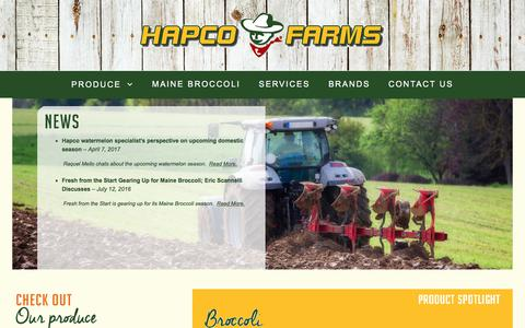 Screenshot of Press Page hapcofarms.com - Hapco Farms - News - captured July 15, 2017