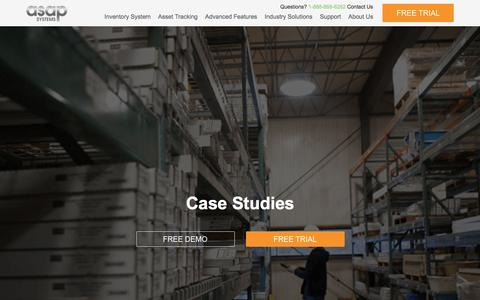 Screenshot of Case Studies Page asapsystems.com - Inventory System & Asset Tracking Case Studies   ASAP Systems - captured Nov. 19, 2016