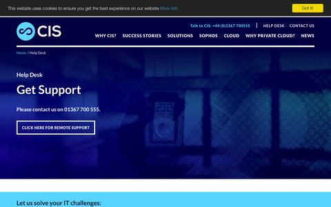 Screenshot of Login Page cisltd.com - Help Desk - CIS - captured Jan. 30, 2016