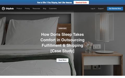 Screenshot of Case Studies Page shipbob.com - ShipBob Ecommerce Order Fulfillment 3PL Case Studies - captured June 19, 2019