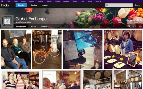 Screenshot of Flickr Page flickr.com - Flickr: Global Exchange Gallery's Photostream - captured Oct. 23, 2014