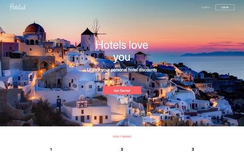 Screenshot of Home Page hotelied.com - Hotelied - captured Feb. 15, 2016