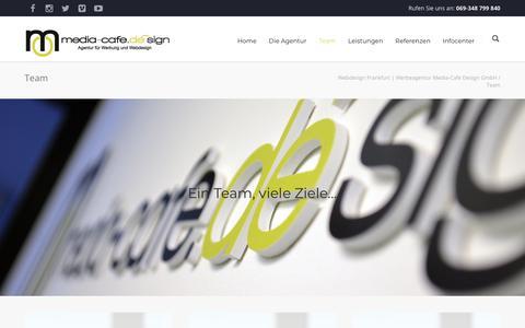 Screenshot of Team Page media-cafe.de - Team |  Webdesign Frankfurt | Werbeagentur Media-Cafe Design GmbH - captured Oct. 18, 2018