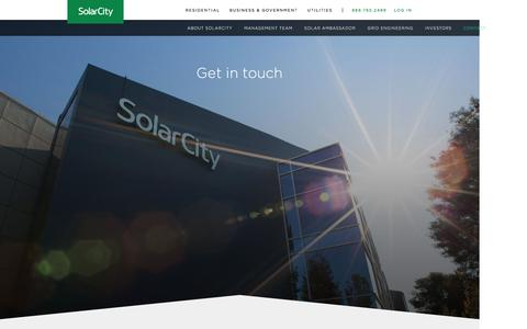 Screenshot of Contact Page solarcity.com - Solar Power Company - Best Solar Power Companies | SolarCity - captured Feb. 17, 2017