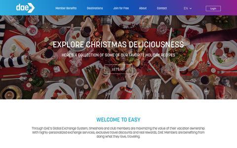 Screenshot of Home Page daelive.com - Timeshares & Time Share Exchange Service-DAELive.com - captured Dec. 14, 2018