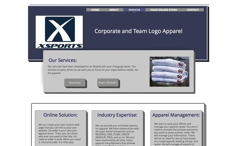Screenshot of Services Page xsportsusa.com - XSports USA | SERVICES - captured Oct. 5, 2017
