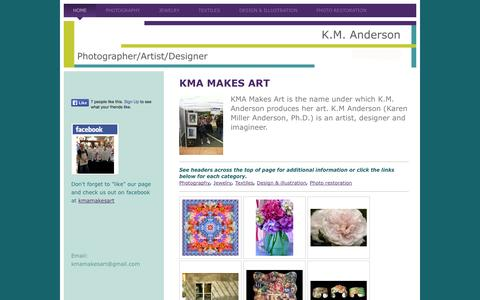 Screenshot of Home Page kmamakesart.com - Home - KMA Makes Art - captured Oct. 8, 2014