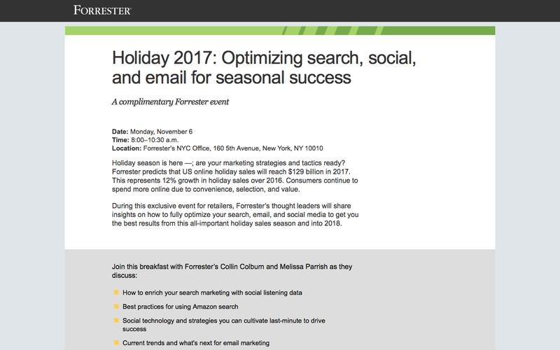 2017 Forrester Retail Breakfast NYC · Forrester